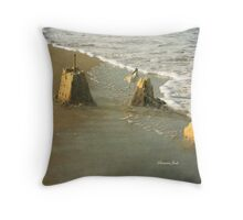 Ruins ~ Time & Tide Wait for No Man Throw Pillow