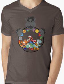 SUPER POKEMON BROS Mens V-Neck T-Shirt