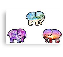 Backgrounds Cute Elephant Pack Canvas Print