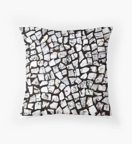 Stone walkway in Brazil Throw Pillow