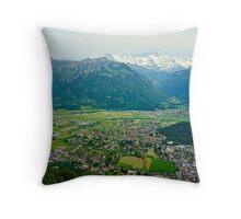 A Lookout Over Interlaken Throw Pillow