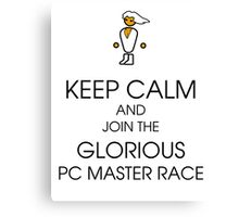 PC gaming master race Canvas Print