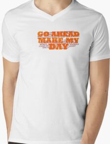 Dirty Harry Sudden Impact - Go Ahead Make My Day Mens V-Neck T-Shirt