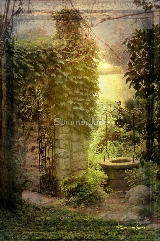 Wishing Well Outside the Garden Wall by SummerJade
