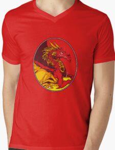 Ancient Red Dragon Mens V-Neck T-Shirt