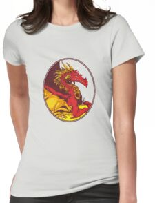 Ancient Red Dragon Womens Fitted T-Shirt