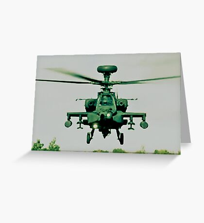 Army Green Apache Greeting Card