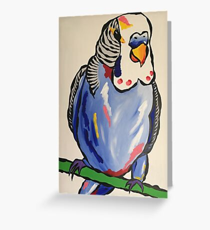 'Terry the budgie' Greeting Card