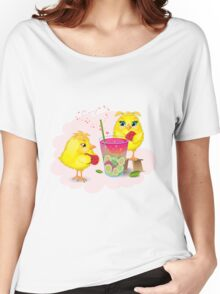 Chickens are preparing a magic elixir.  Women's Relaxed Fit T-Shirt