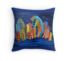The Floating City Throw Pillow