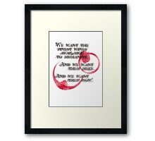Withnail And I - We Want The Finest Wines Available To Humanity... Framed Print