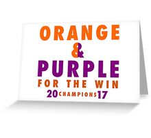 CLEMSON TIGERS FOR THE WIN Greeting Card