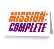 CLEMSON TIGERS NATIONAL CHAMPIONS MISSION COMPLETE Greeting Card