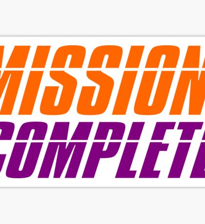 CLEMSON TIGERS NATIONAL CHAMPIONS MISSION COMPLETE Sticker
