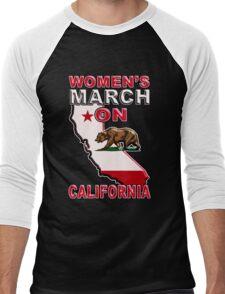Million Women's March on CALIFORNIA State 2017 Redbubble T Shirts Men's Baseball ¾ T-Shirt