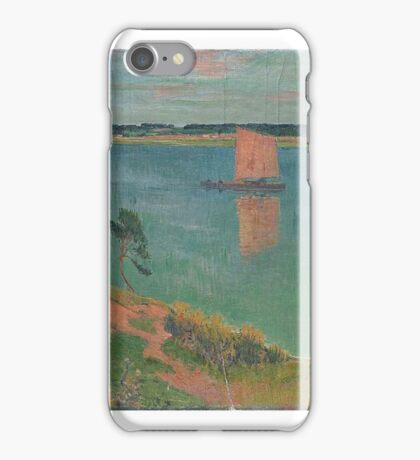 Boat and the River Bank, , by Henri Moret (1856–1913) (Art Paintings) iPhone Case/Skin