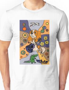 King Charles Spaniel Abstract Unisex T-Shirt