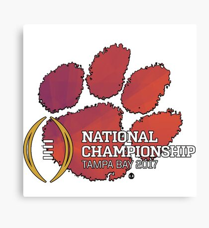 Clemson Tigers 2017 National Championship  Canvas Print