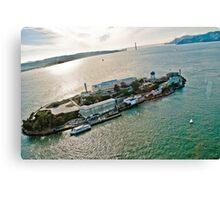 Alcatraz and Golden Gate composition Canvas Print