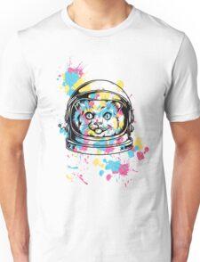 cute kitty kitten cat astronaut  Unisex T-Shirt