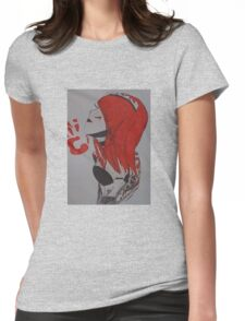 red tattoo girl  Womens Fitted T-Shirt