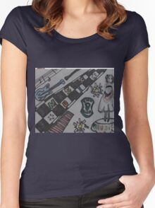 #music Women's Fitted Scoop T-Shirt