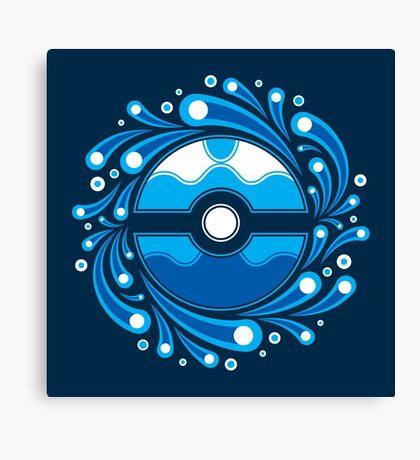 Dive Ball Splash Canvas Print
