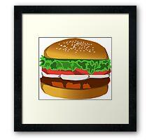 Extreme Burger Framed Print