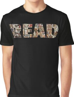 READ (with books image) Graphic T-Shirt
