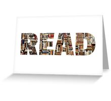 READ (with books image) Greeting Card