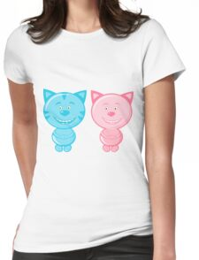 Pair of cute cats Womens Fitted T-Shirt
