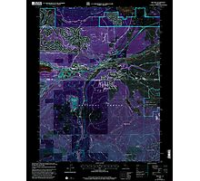 USGS TOPO Map California CA Truckee 102062 2000 24000 geo Inverted Photographic Print
