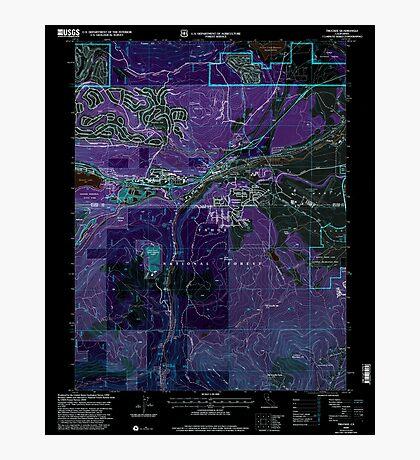 USGS TOPO Map California CA Truckee 102062 2000 24000 geo Inverted Photographic Print