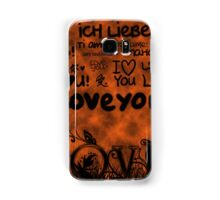The Language of Love Samsung Galaxy Case/Skin