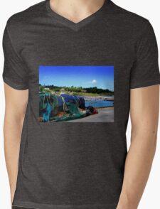 Harbour Life in Lyme Regis Mens V-Neck T-Shirt