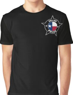 Dallas Police T Shirt - Texas flag Graphic T-Shirt