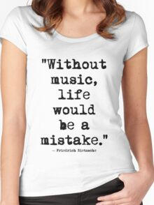 Friedrich Nietzsche Music Women's Fitted Scoop T-Shirt