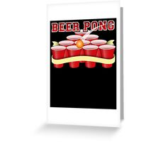 Beer Pong T-Shirt Greeting Card