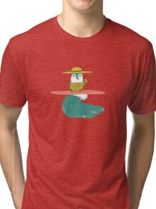 Surfing penguin Tri-blend T-Shirt