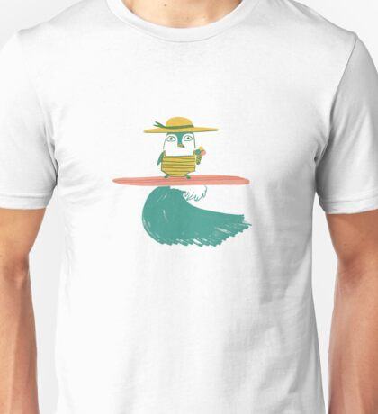 Surfing penguin Unisex T-Shirt