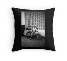 Sixties Scooter Throw Pillow
