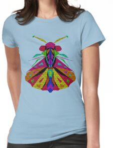 Mosaic Moth Womens Fitted T-Shirt