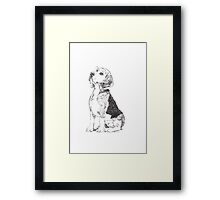 Pen and Ink Beagle Framed Print