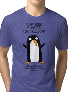 Brenda the Civil Disobedience Penguin Tri-blend T-Shirt