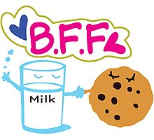 Milk and Choco chip  BFF Photographic Print
