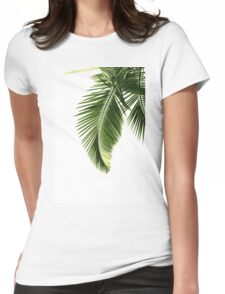 Tropical Palm Leaves Womens Fitted T-Shirt