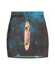 Pleiadian Surfer Mini Skirt