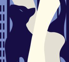Beautiful cat walk. Art deco stylish illustration Sticker