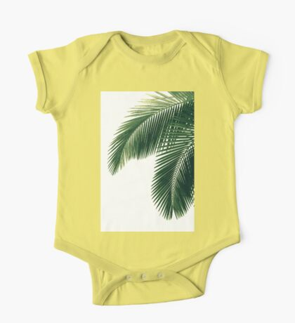 Tropical Palm Leaves One Piece - Short Sleeve