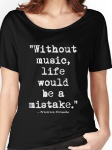 Friedrich Nietzsche Music White Women's Relaxed Fit T-Shirt